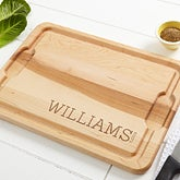 Personalized Maple Cutting Board - Family Name - 14787