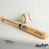 Personalized Wooden Baseball Bat - Engraved Mini - 14790