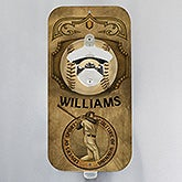 Personalized Magnetic Bottle Opener - Vintage Sports - 14801
