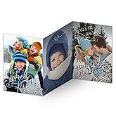 Personalized Photo Christmas Cards - Oh What Fun - 3 Panel Cards - 14804