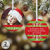Personalized Photo Christmas Ornament - Classic Christmas - Double Sided - 14807