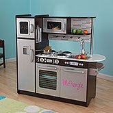 Personalized Kid Kraft Play Kitchen - Uptown Espresso - 14820D
