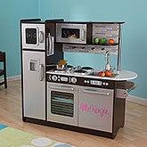Personalized Kid Kraft Play Kitchen - Uptown Espresso - 14820D