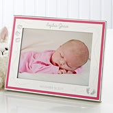 Engraved Pink Border Baby Photo Frame - It's A Girl - 14827