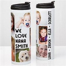 Personalized Photo Collage Travel Tumbler - 5 Photos - 14835