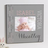 Personalized 5x7 Picture Frame - Darling Baby Girl - 14848