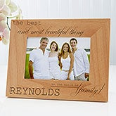 Personalized Wood Photo Frame - The Best Family - 14854