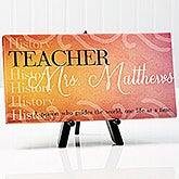 Personalized Teacher Canvas Print - Inspiring Teacher - 14863