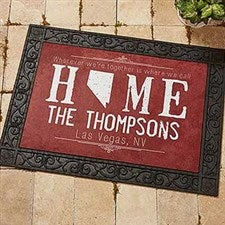 Personalized State Of Love Doormat - State Map - 14871