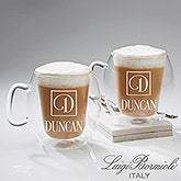Personalized Luigi Bormioli Insulated Glass Mug Set - 14879