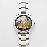Personalized Men's Photo Silver Watch - 14899D