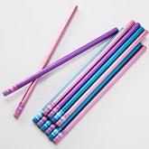 Personalized Girls Pencils - Trendy Metallic - 14908