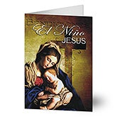 El Niño Jesus Personalized Spanish Christmas Cards - 14920