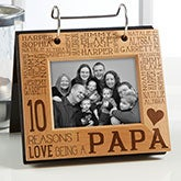 Personalized Photo Flip Picture Album - Reasons Why - For Him - 14944
