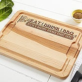 Personalized Maple Cutting Board - Eat Drink & BBQ - 14954