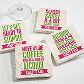 Personalized Coasters For Girls - Party It Up - 14964
