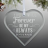 Personalized Romantic Heart Ornament - Love Quotes - 14977