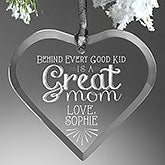 Personalized Heart Ornament For Mom - Loving Words To Her - 14980