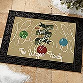 Personalized Christmas Doormats - 'Tis The Season To Be Jolly - 14986