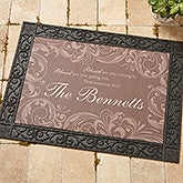Personalized Doormat - Family Blessings  - 14994