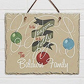Personalized Slate Plaque Christmas Wall Art - 'Tis The Season To Be Jolly - 14999