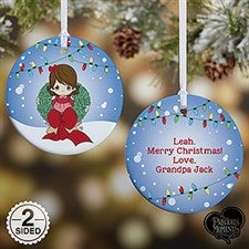 Personalized Precious Moments Christmas Ornament - Wreath - 15005
