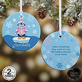 Personalized Precious Moments Penguin Christmas Ornament - 15017