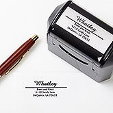 Personalized Self-Inking Address Stamper - Alberta Design - 1502
