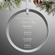 Personalized Grandparent Ornament - My Grandkids - 15020