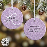 Personalized Ornament - Name Meaning - 2 Sided - 15021