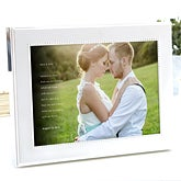 Personalized Photo With Frame - Wedding Sentiments - 15042