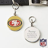 Personalized NFL Pet ID Tag - San Francisco 49ers - 15048