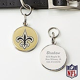 Personalized NFL Pet ID Tag - New Orleans Saints - 15052