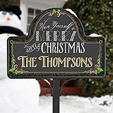 Personalized Garden Stake & Magnet - Merry Little Christmas - 15059