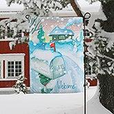 Personalized Winter Garden Flag - Enchanted Snow Escape - 15060