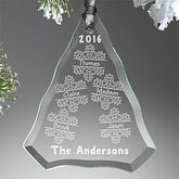 Personalized Family Christmas Ornament - Falling Snowflake Family - 15065
