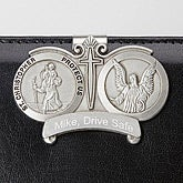 Engraved St. Christopher Visor Clip - 15066