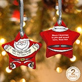 Personalized Vintage Santa Star Christmas Ornament - 15086