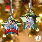 Personalized Photo Star Christmas Ornament - 15087