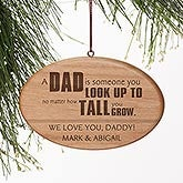 Personalized Wood Christmas Ornament - Special Dad - 15088