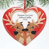 Personalized Couple Christmas Ornament - Forever In Love - 15093