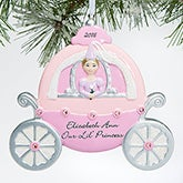 Personalized Christmas Ornament For Girls - Princess Carriage - 15096