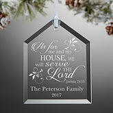 Personalized Religious Christmas Ornaments - We Will Serve The Lord - 15105