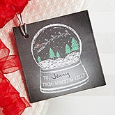 Personalized Christmas Gift Tags - Snow Globe - 15112