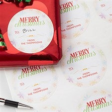 Personalized Gift Stickers - Holiday Wishes - 15113
