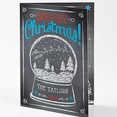 Personalized Christmas Greeting Card - Snow Globe - 15115