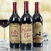 Personalized Merry Christmas Wine Bottle Labels - 15118
