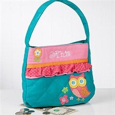 Personalized Girls Purse - Loveable Owl - 15139