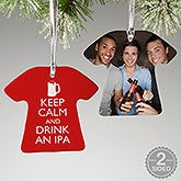 Personalized Keep Calm Christmas Ornament - 15141