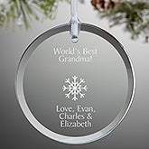 Personalized Round Glass Christmas Ornament - Create Your Own - 15150